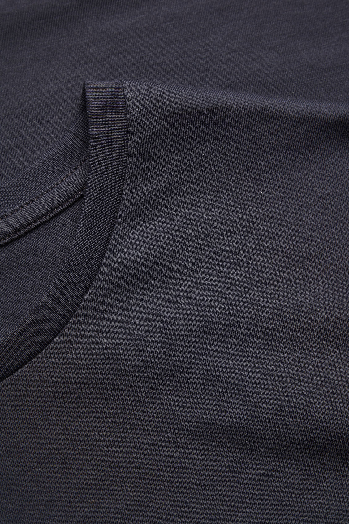 Side image of Cos round-neck t-shirt in blue