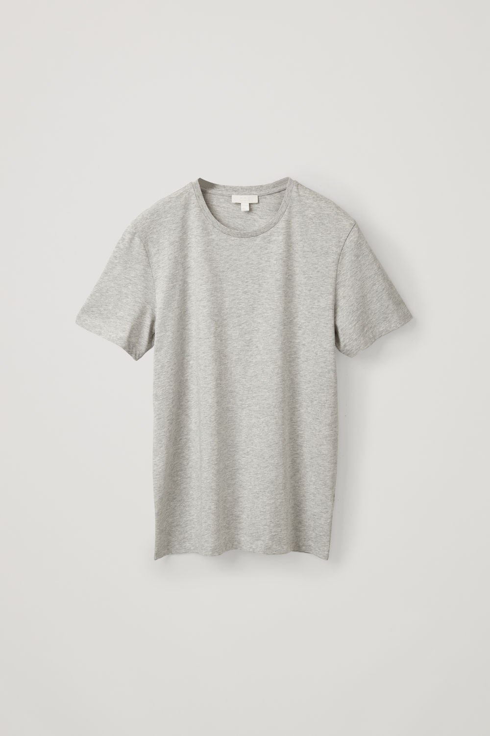Front image of Cos round-neck t-shirt in grey