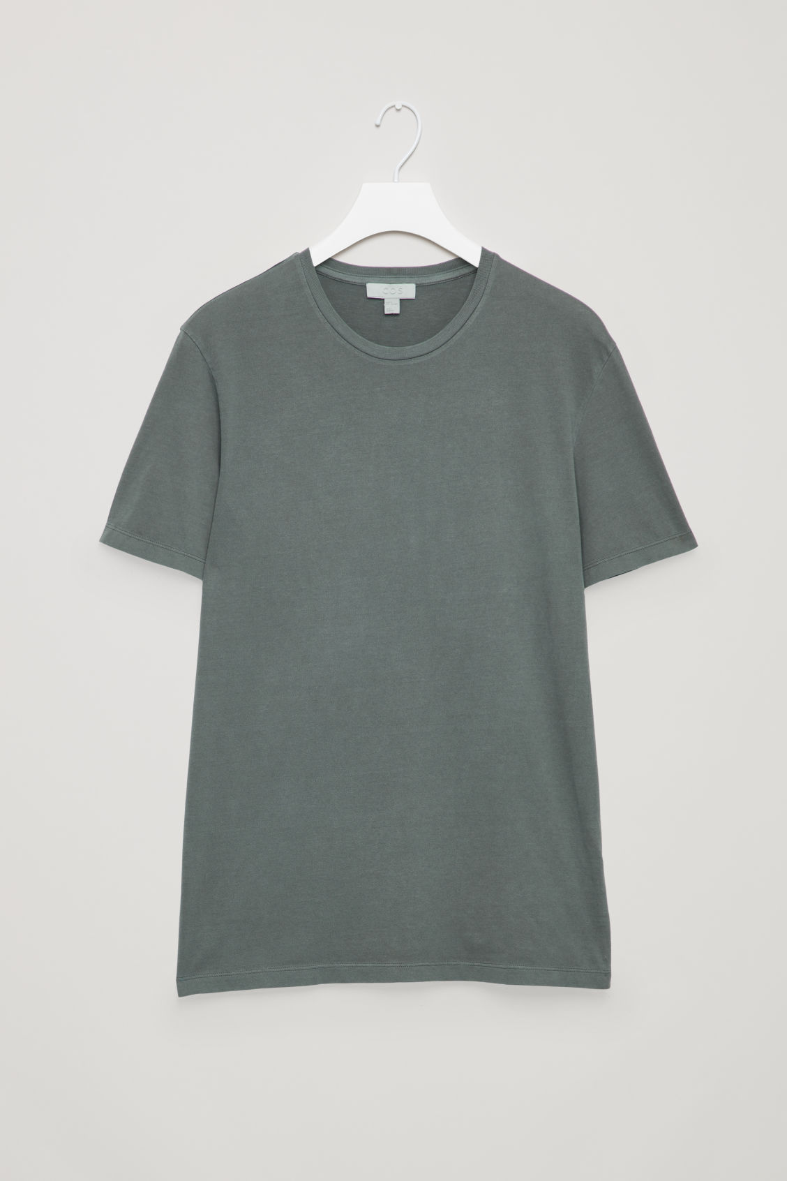 Front image of Cos round-neck t-shirt in green