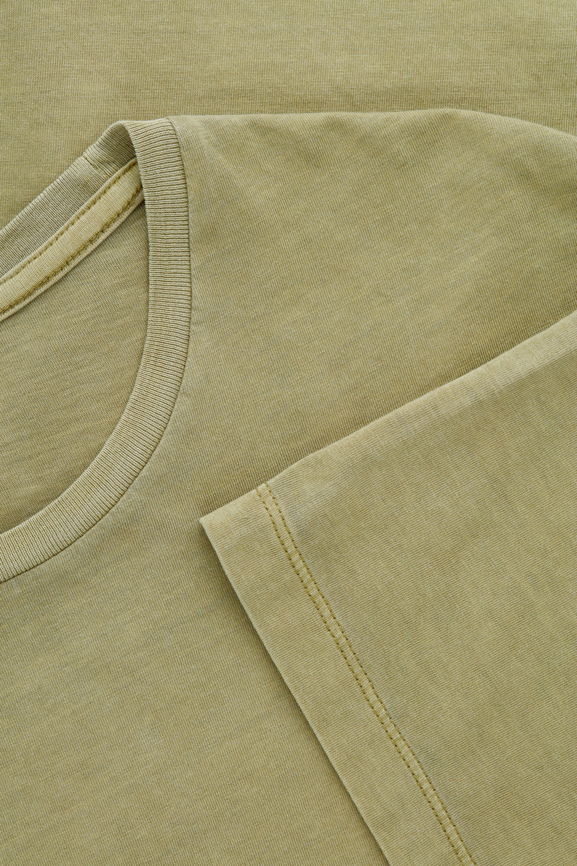Side image of Cos round-neck t-shirt in green