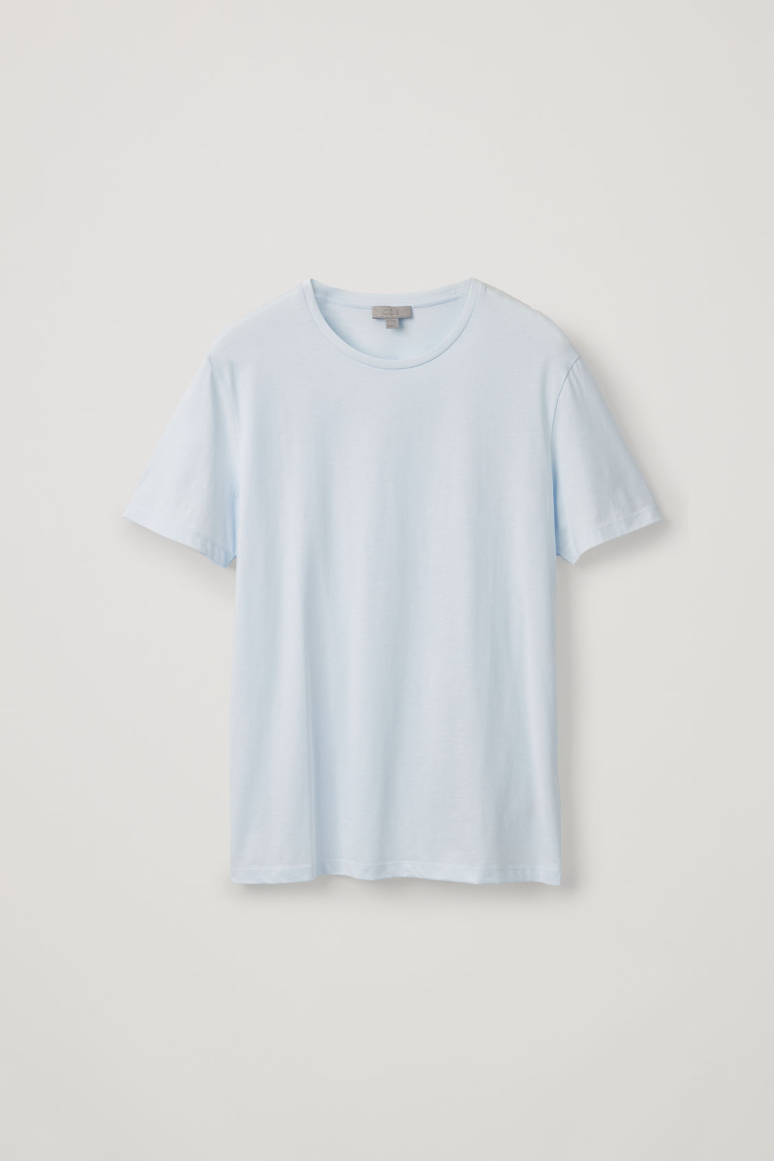 Front image of Cos round-neck t-shirt in blue