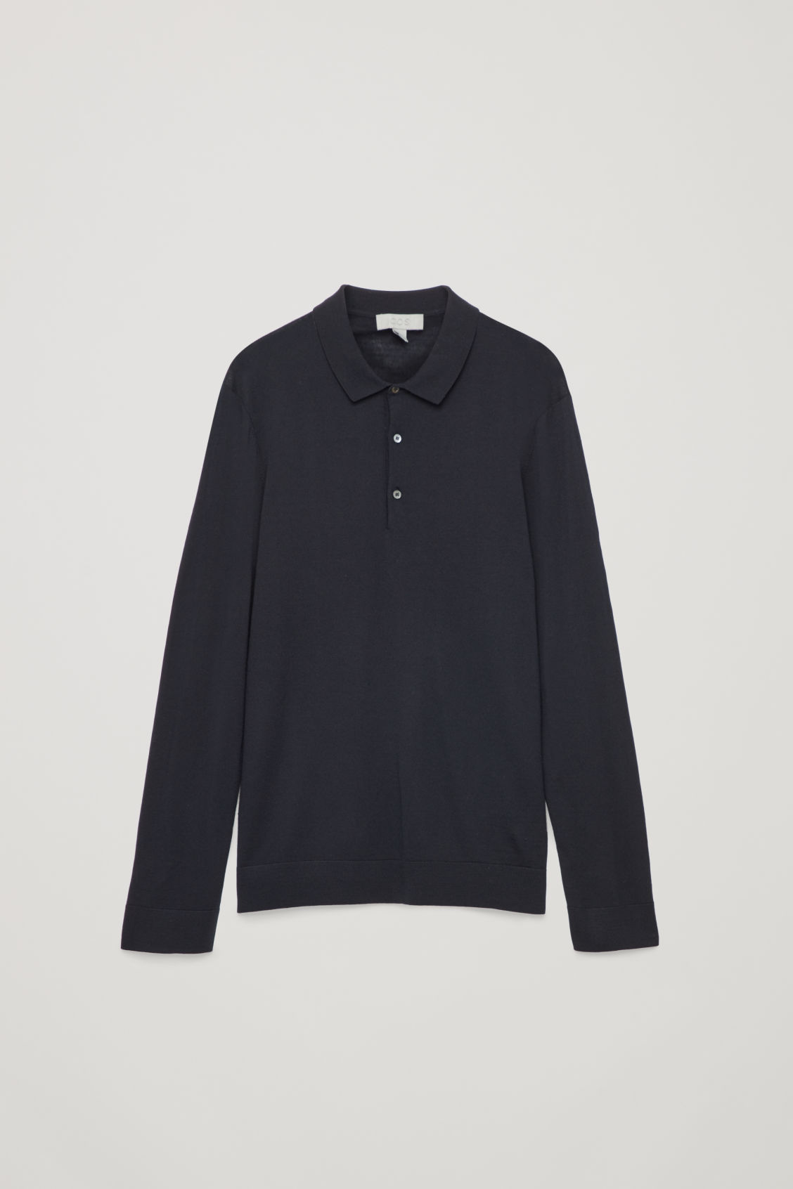 Front image of Cos merino polo-neck jumper  in blue