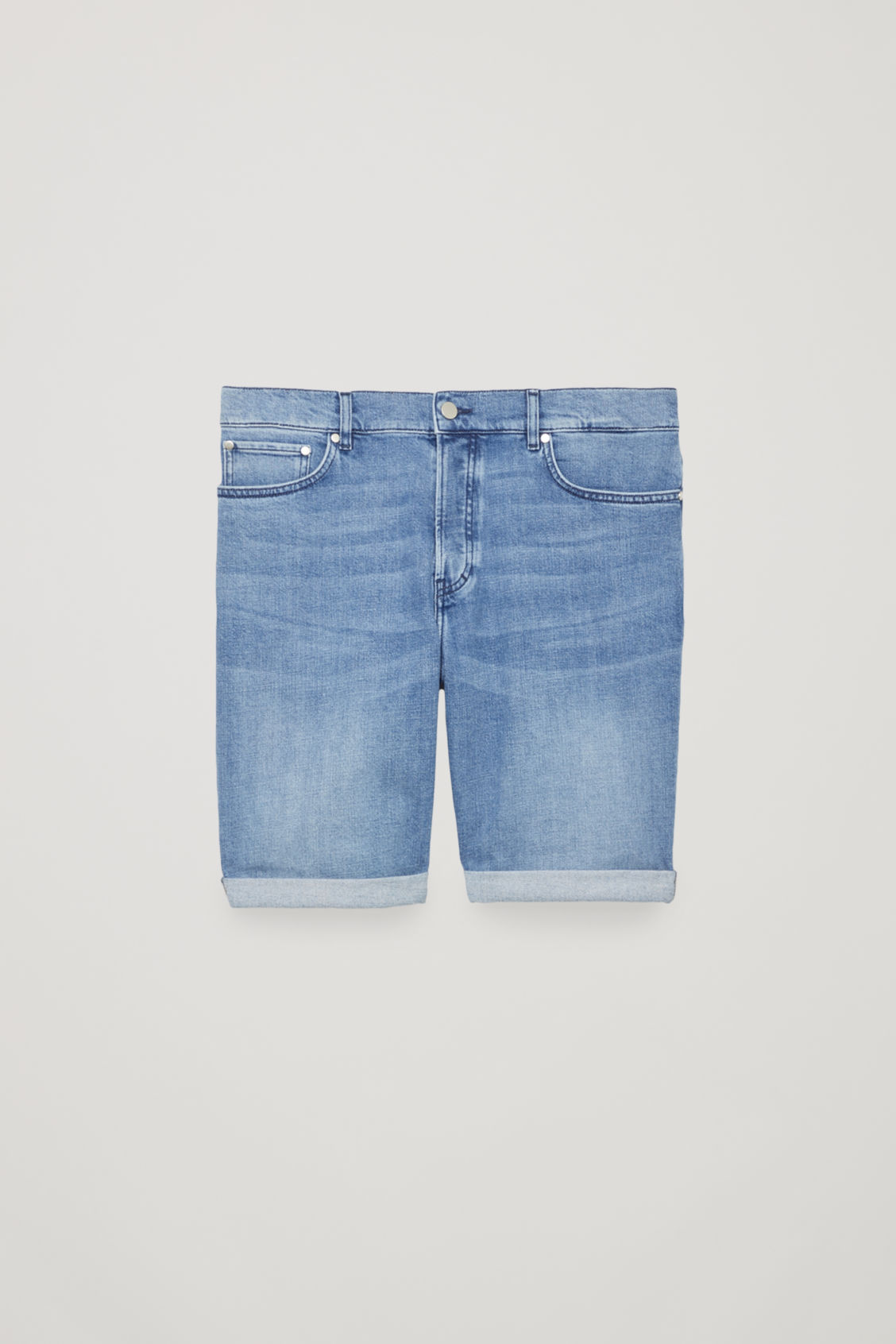 Front image of Cos denim shorts in blue