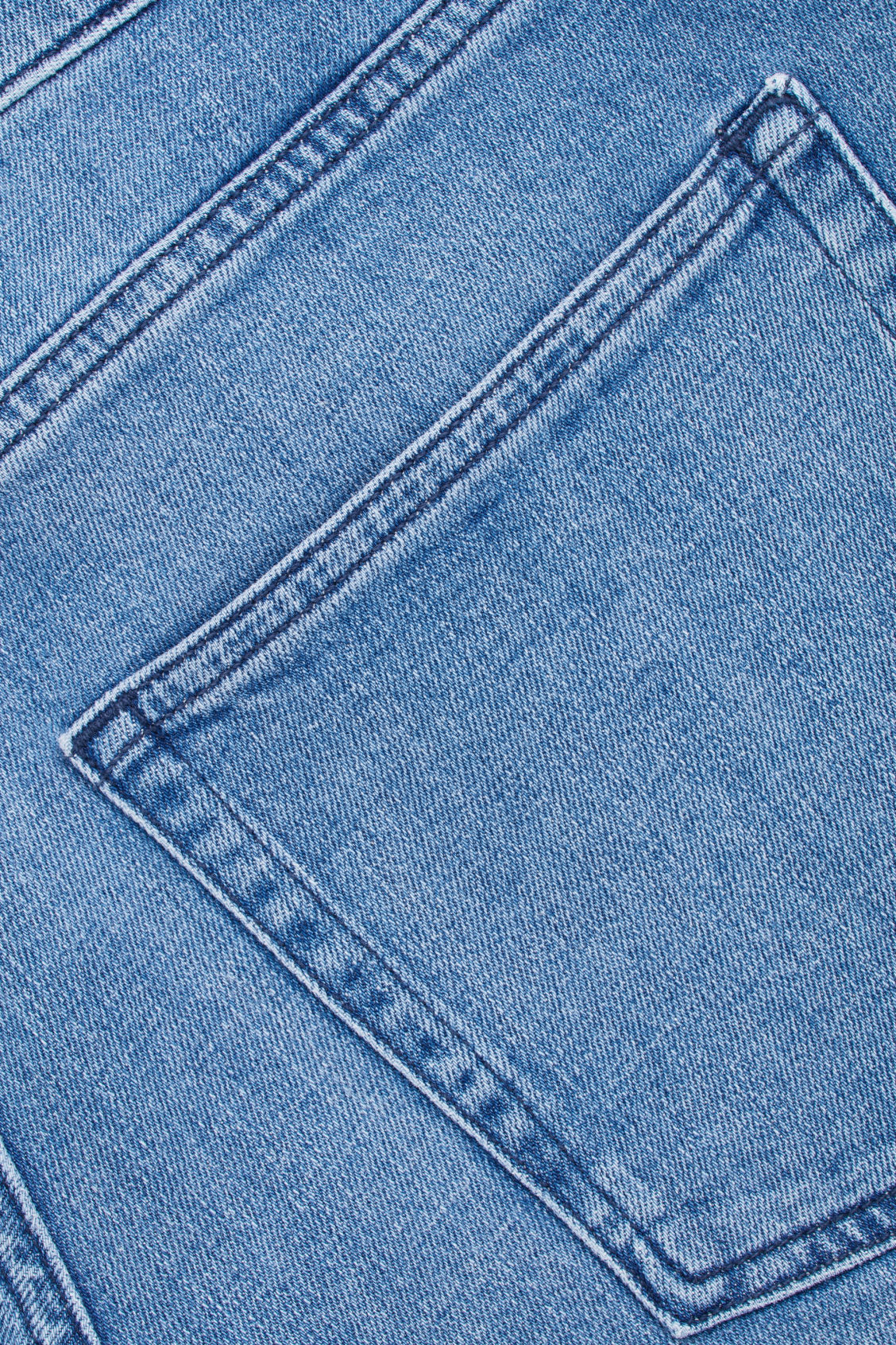 Side image of Cos denim shorts in blue
