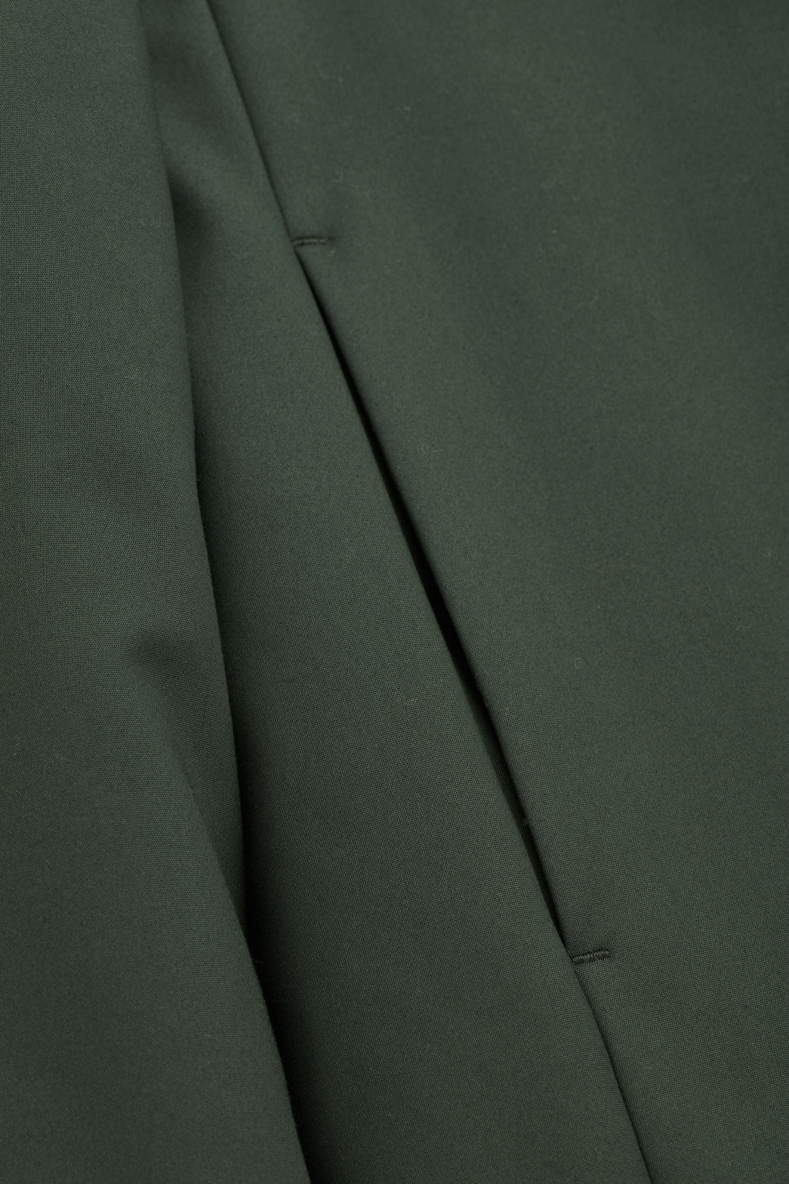 Side image of Cos padded cotton parka in green