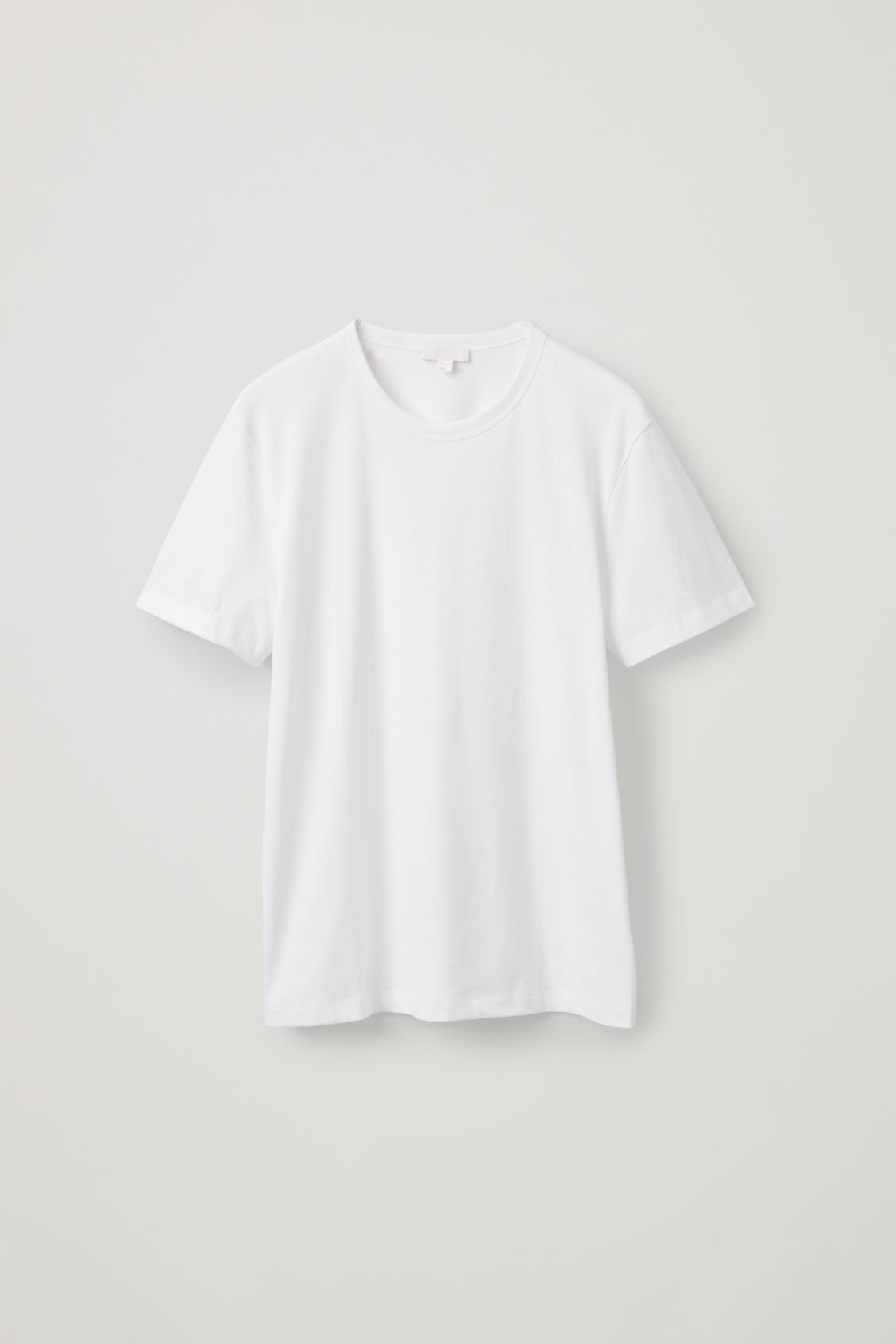 Front image of Cos brushed cotton t-shirt in white