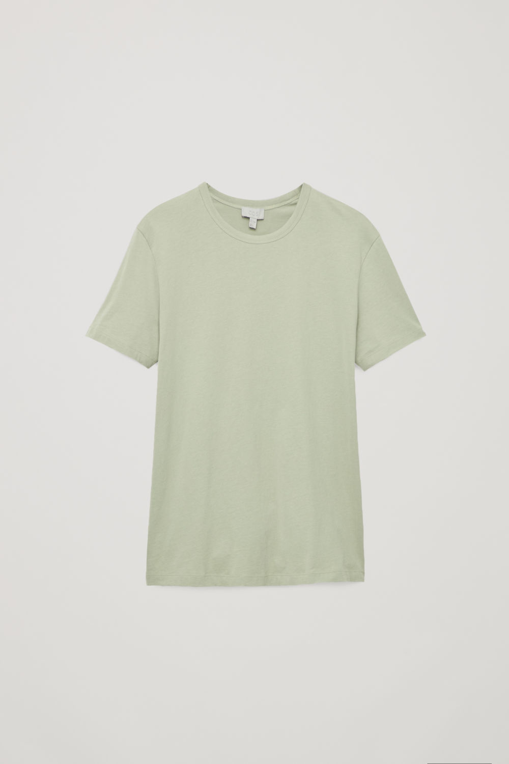 Front image of Cos brushed cotton t-shirt in green