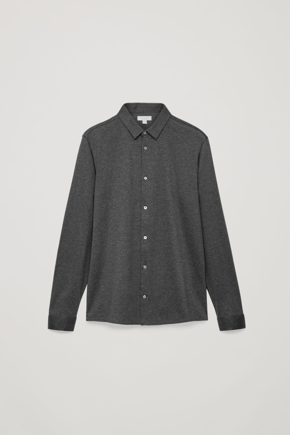 Front image of Cos jersey shirt in grey