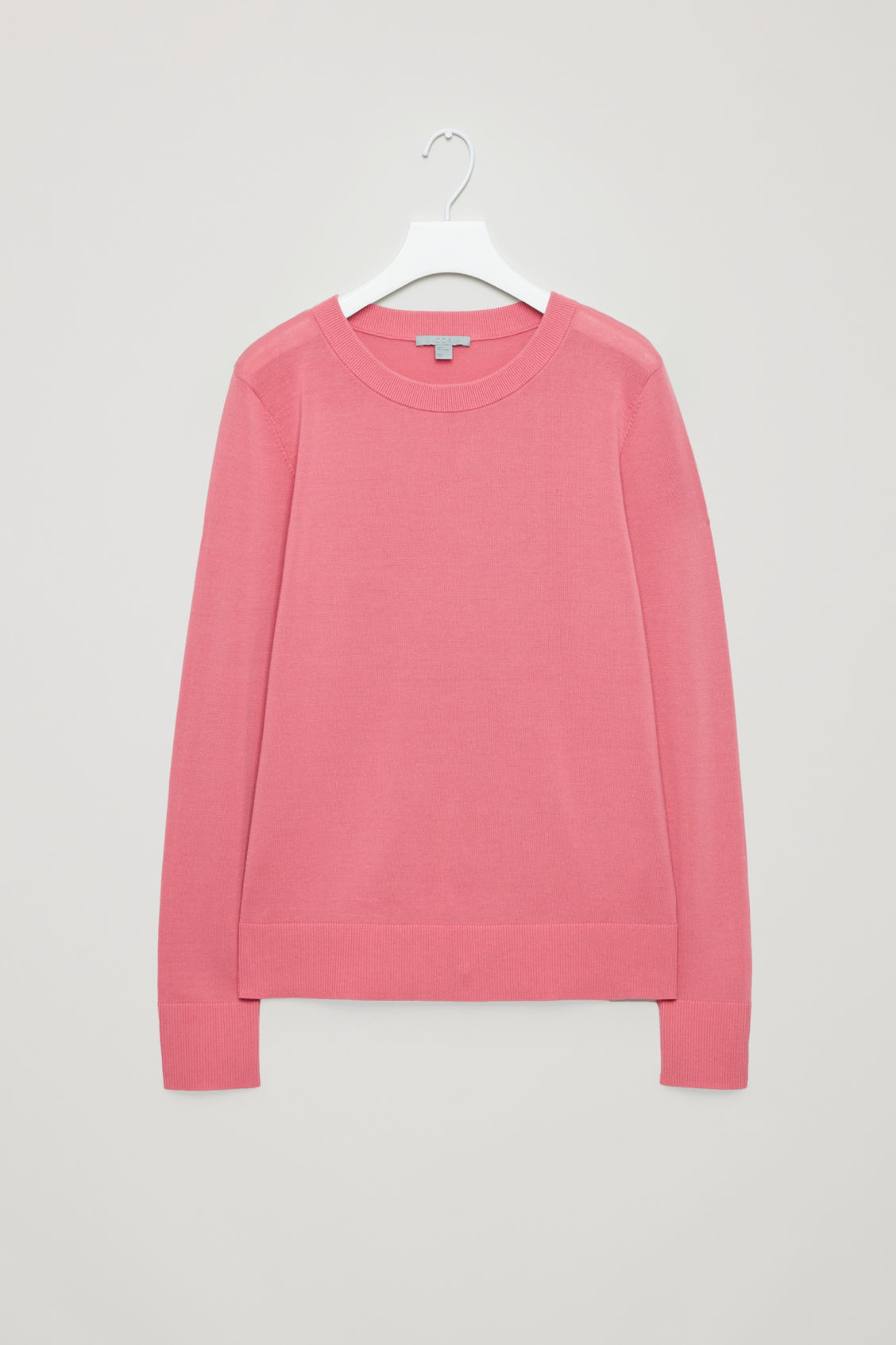Front image of Cos cotton-knit jumper in pink