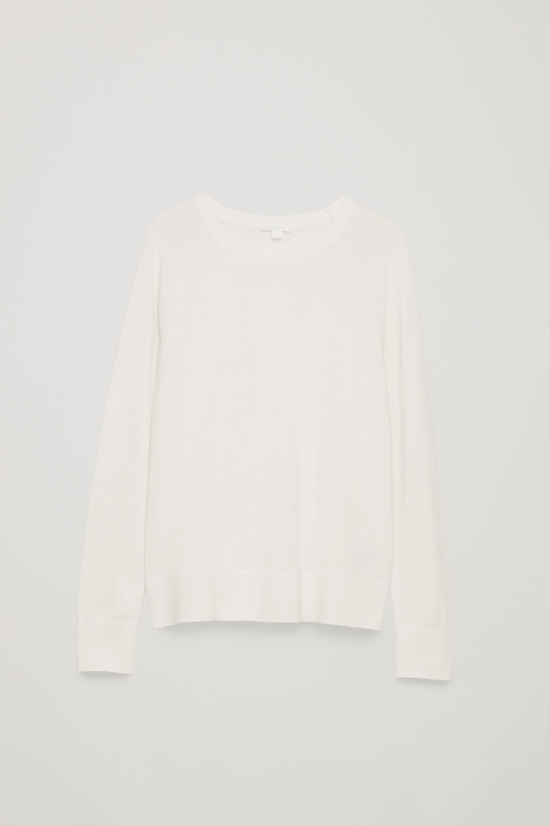 Front image of Cos cotton-knit jumper in beige