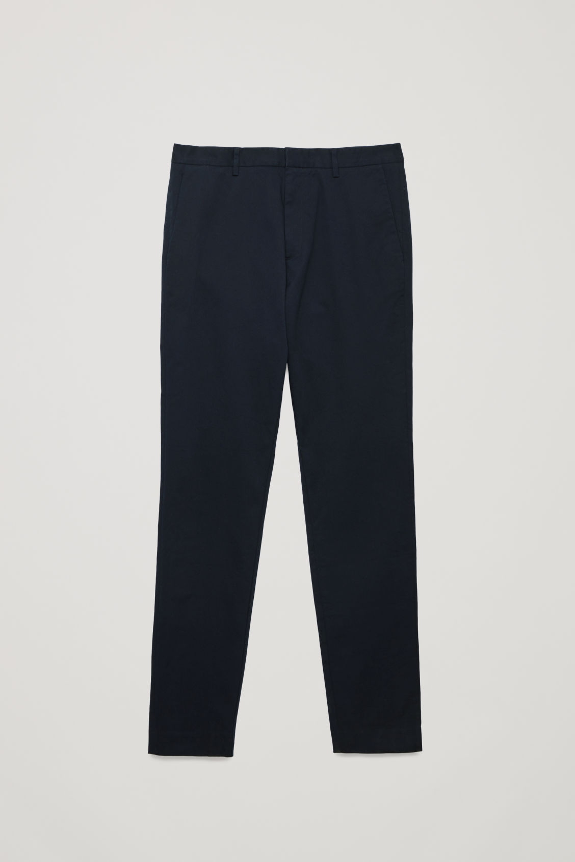 Front image of Cos stretch-cotton chinos in blue