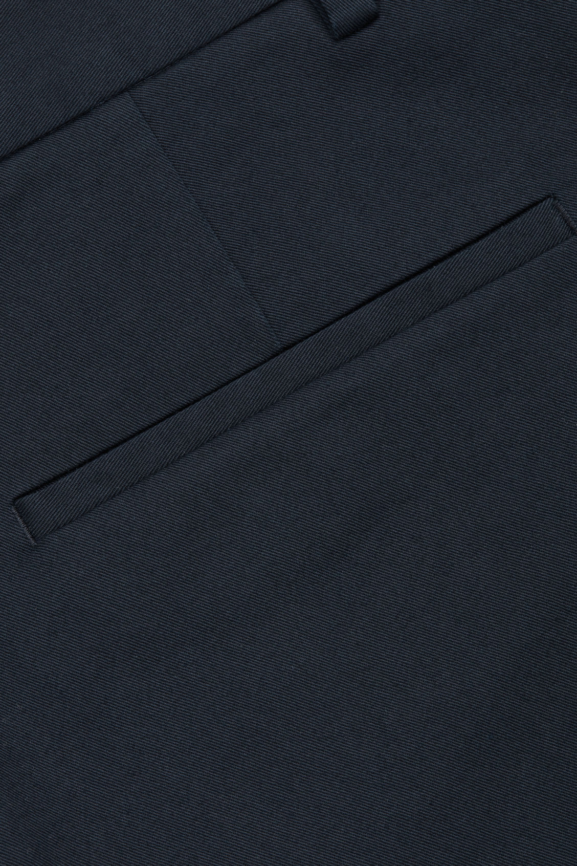 Side image of Cos stretch-cotton chinos in blue