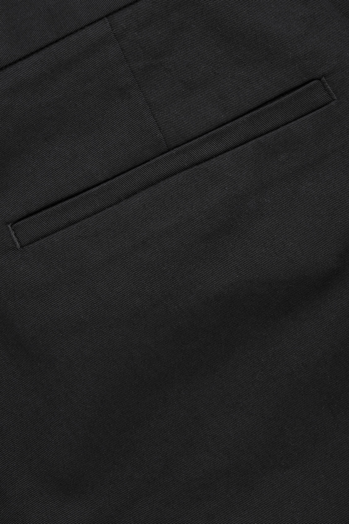 Side image of Cos stretch-cotton chinos in black