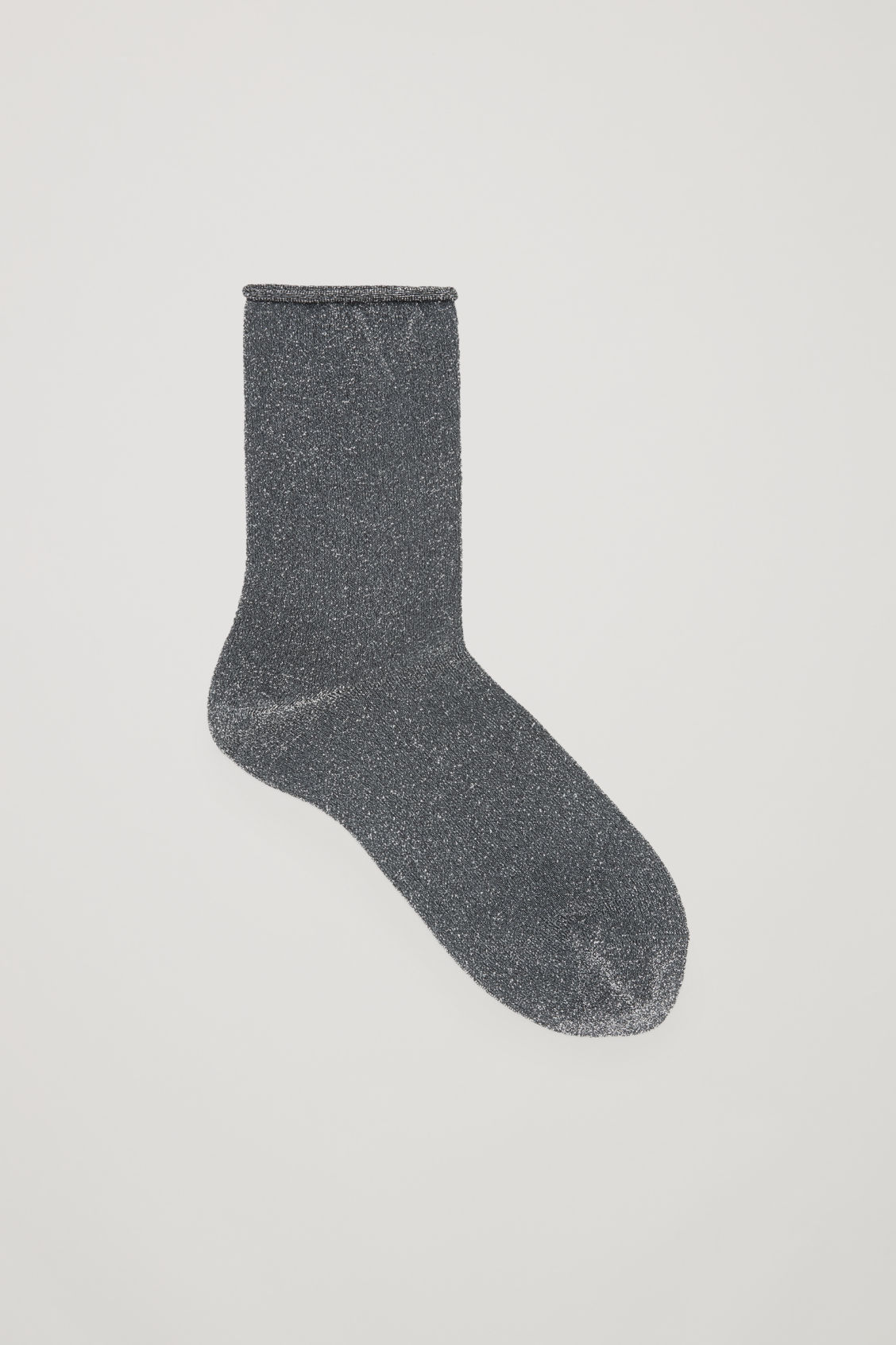 Front image of Cos metallic socks in grey