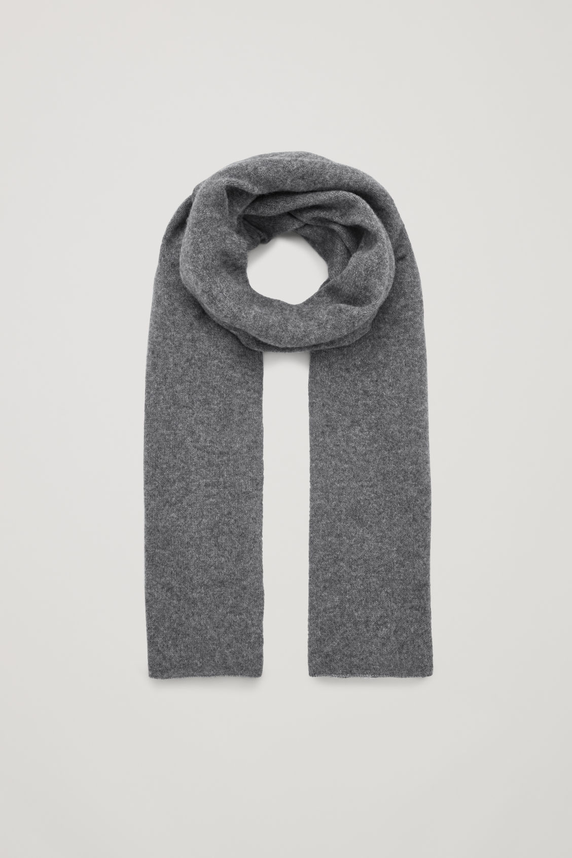 Front image of Cos cashmere scarf in grey