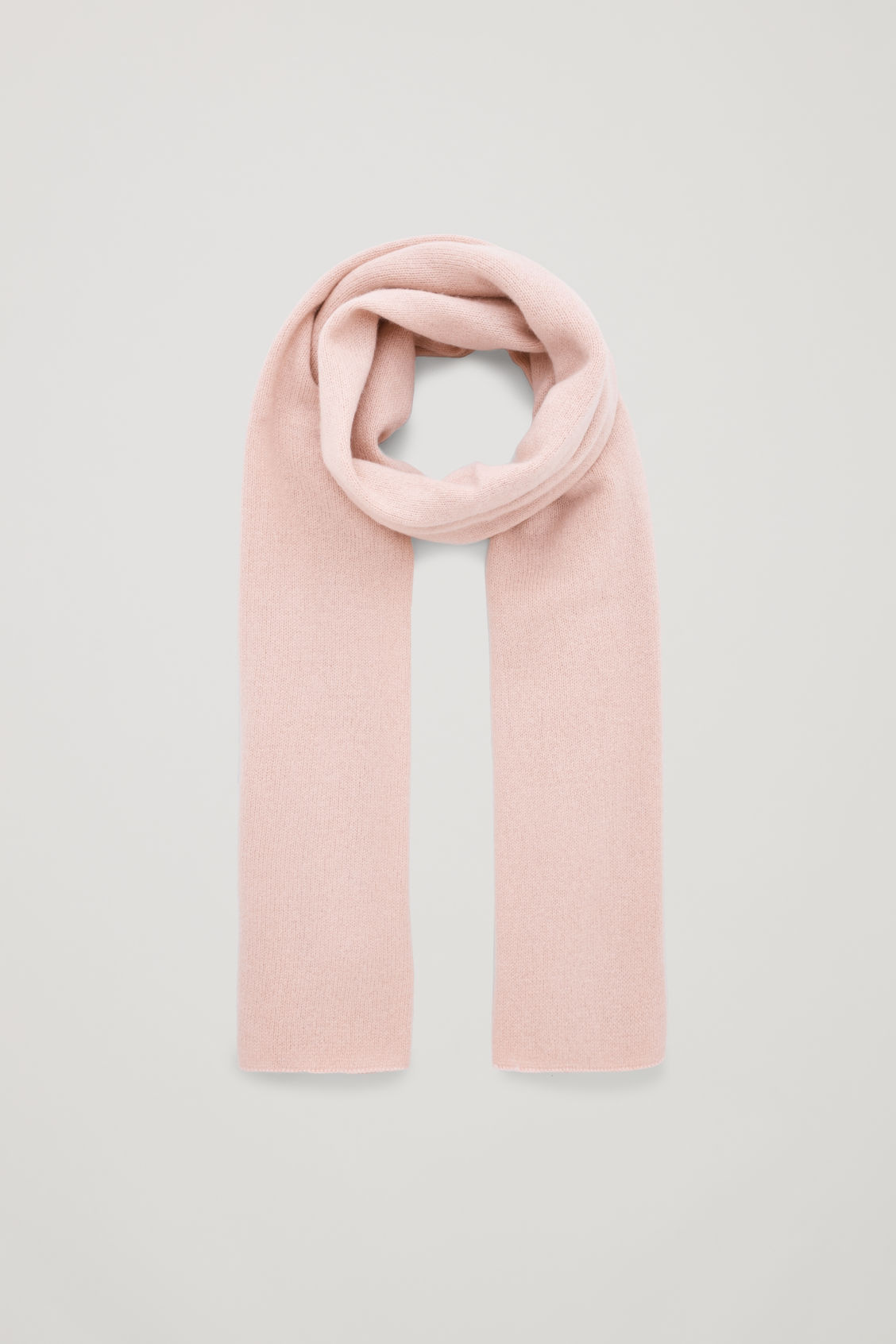 Front image of Cos cashmere scarf in pink