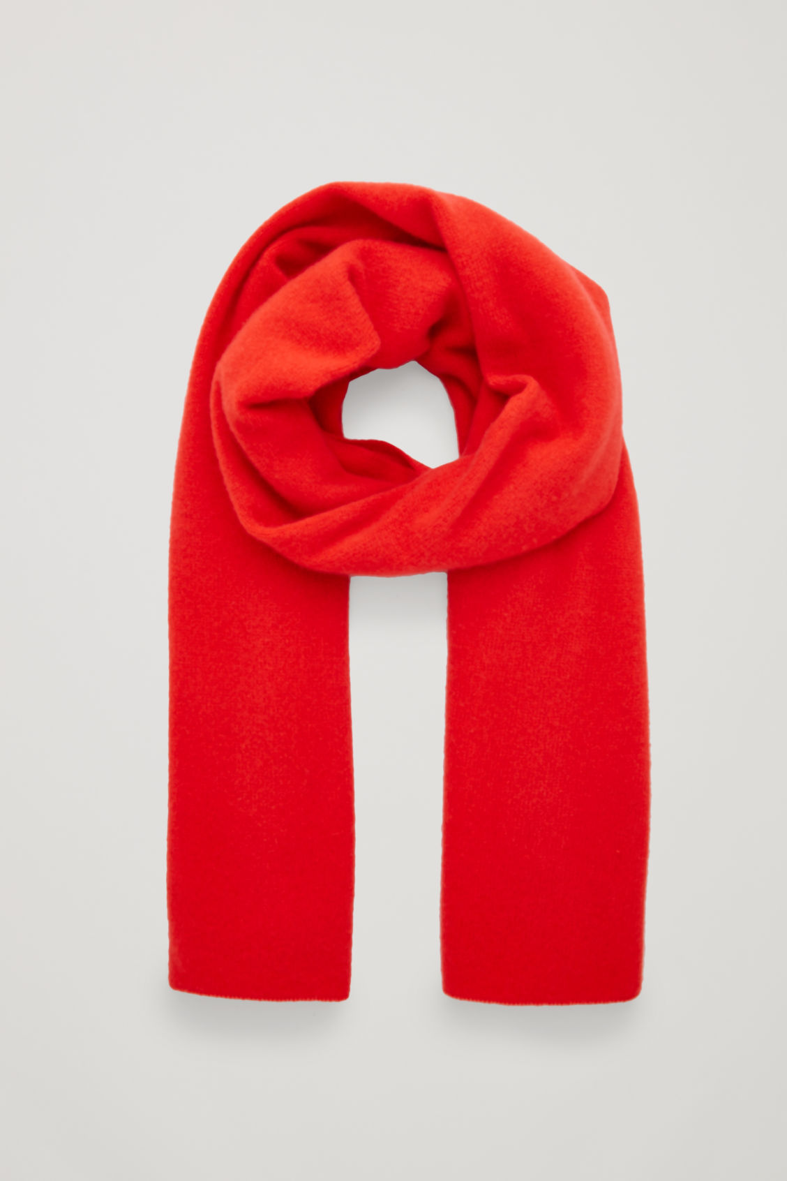 Front image of Cos cashmere scarf in red
