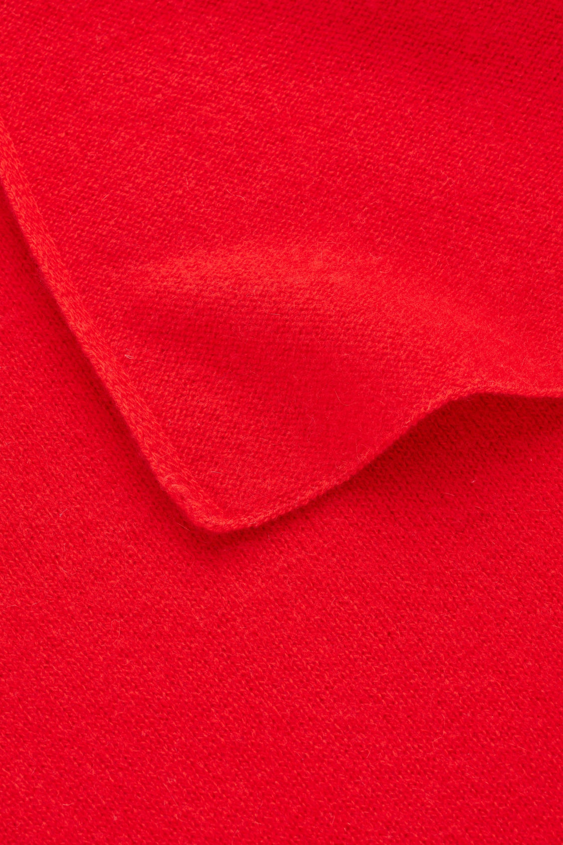 Side image of Cos cashmere scarf in red