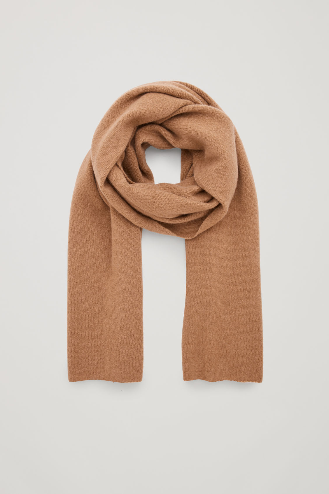 Front image of Cos cashmere scarf in beige
