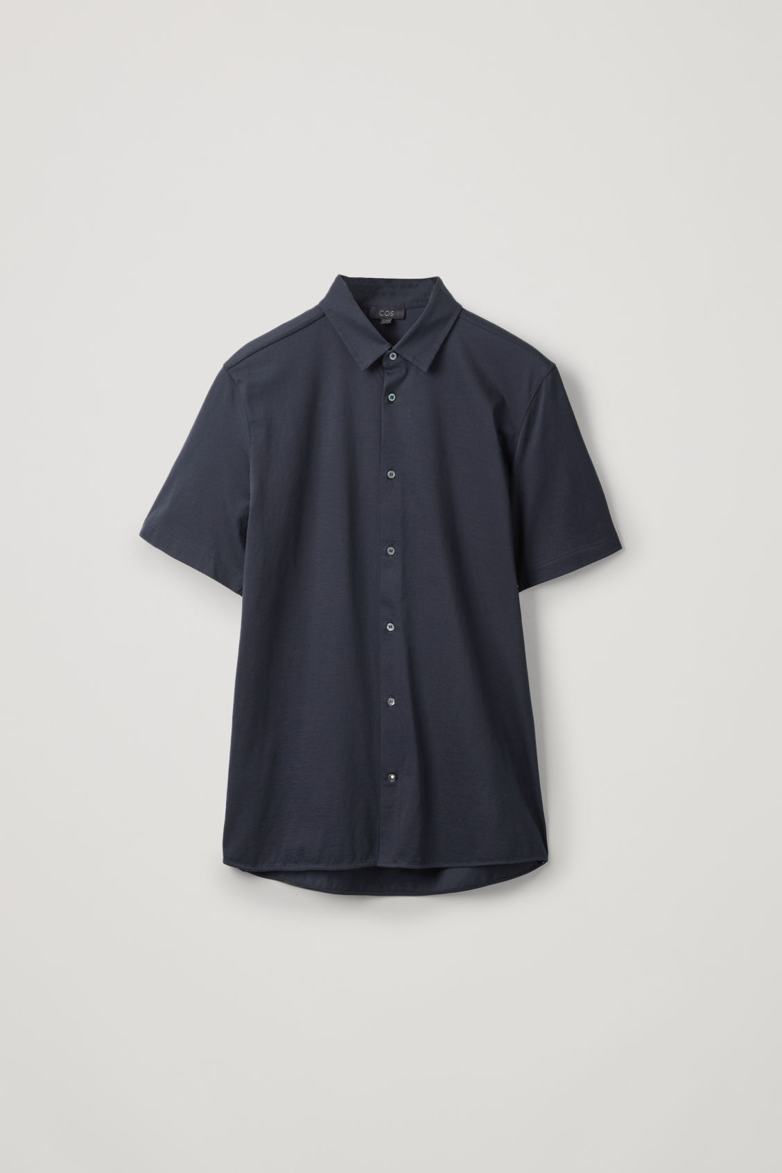 Front image of Cos short-sleeved jersey shirt in blue