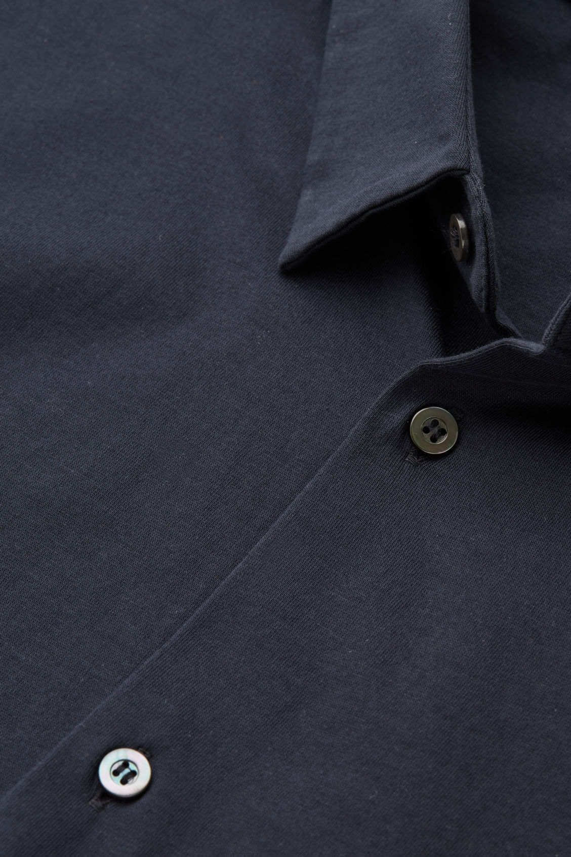 Side image of Cos short-sleeved jersey shirt in blue