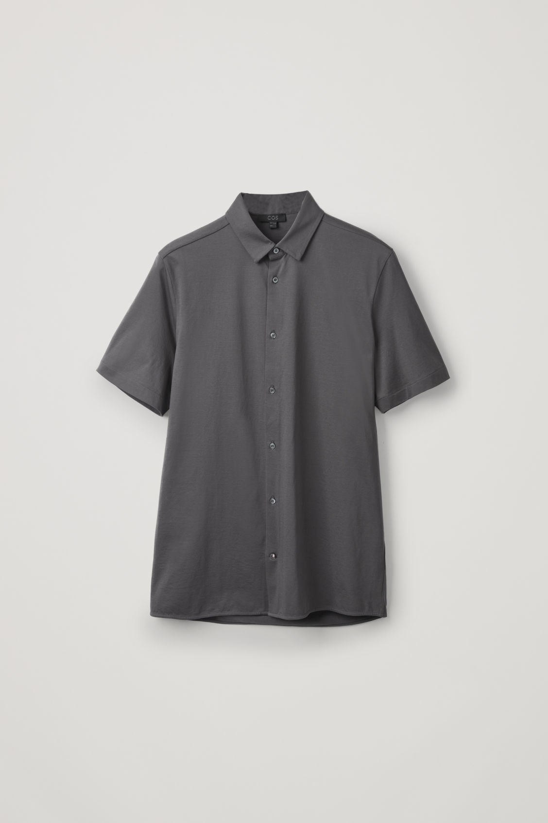 Front image of Cos short-sleeved jersey shirt in grey