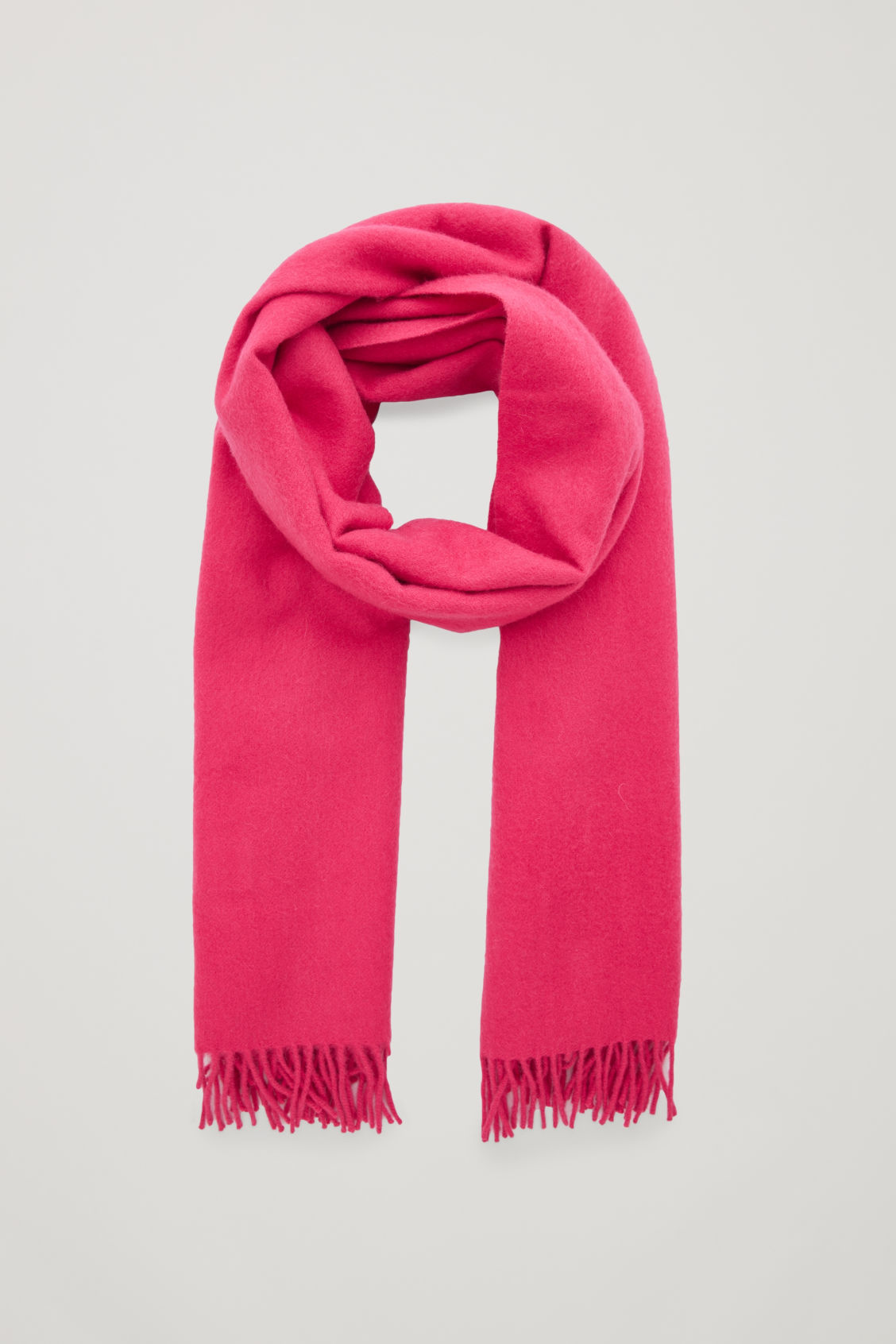 Front image of Cos wool-cashmere scarf in pink