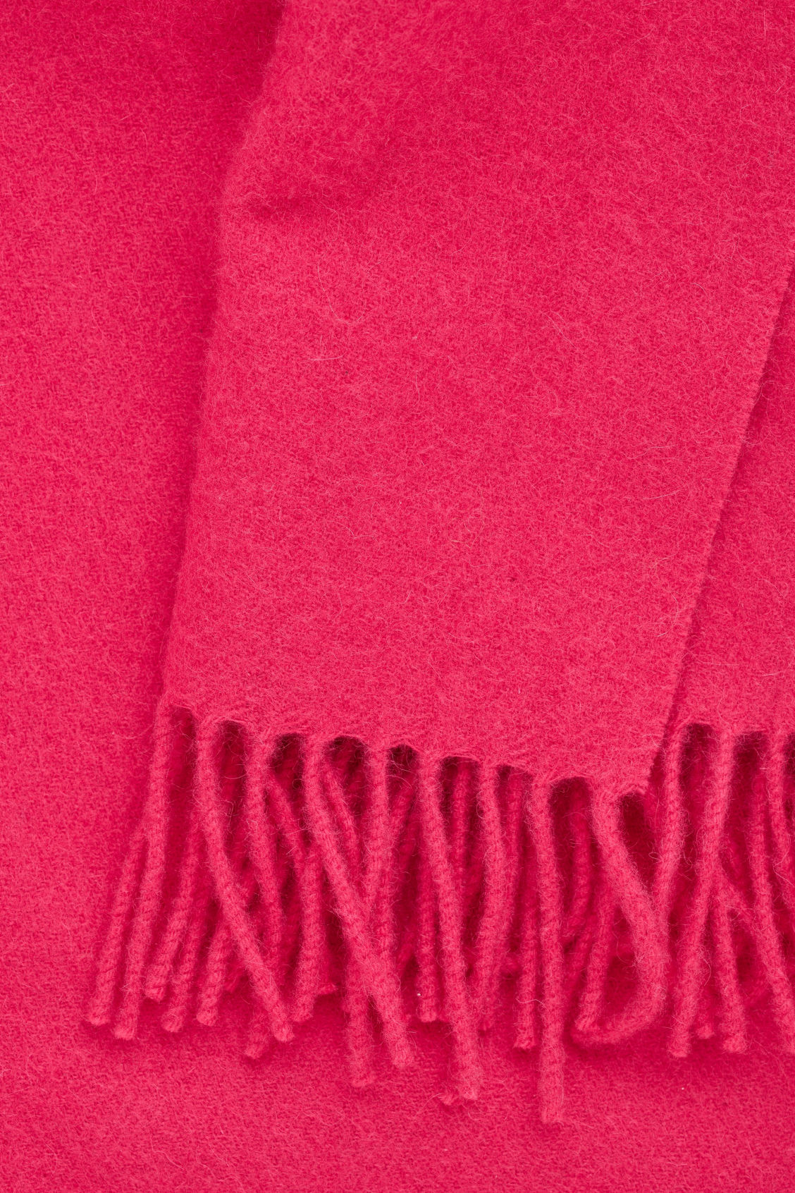 Side image of Cos wool-cashmere scarf in pink