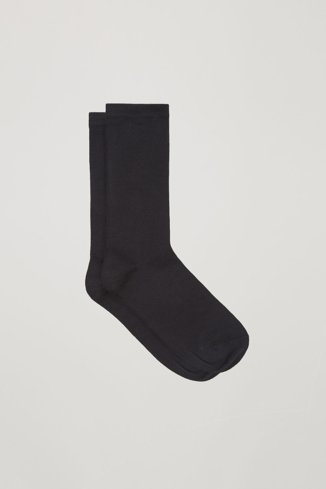 Front image of Cos two pairs of cotton socks in black