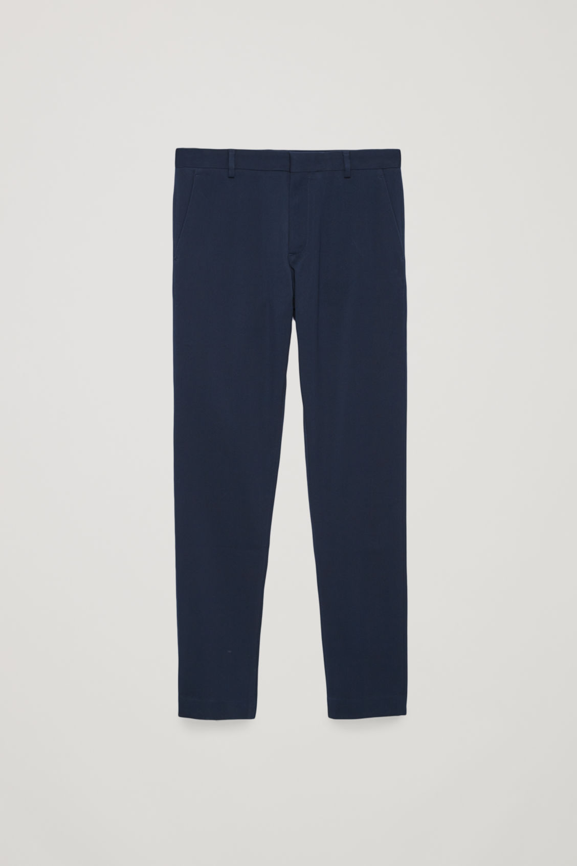 Front image of Cos slim-fit chinos in blue