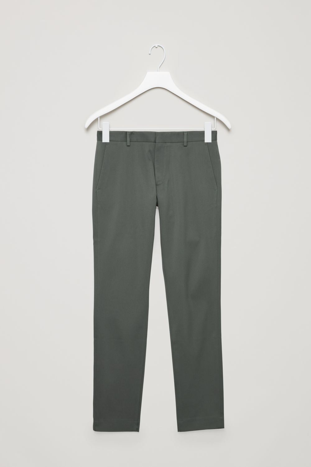 Front image of Cos slim fit chinos in grey