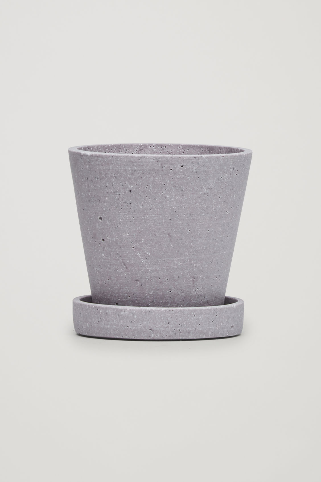 Front image of Cos hay medium flowerpot in purple