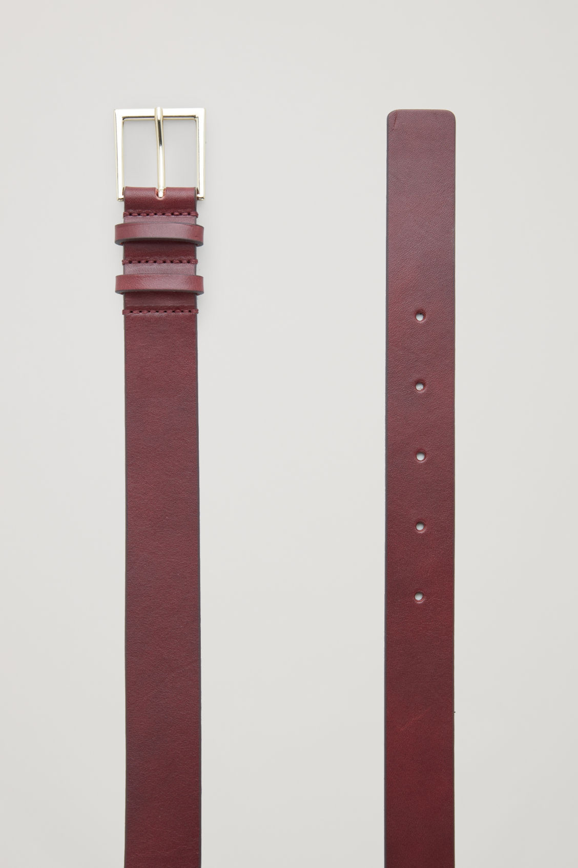 Side image of Cos classic leather belt in purple
