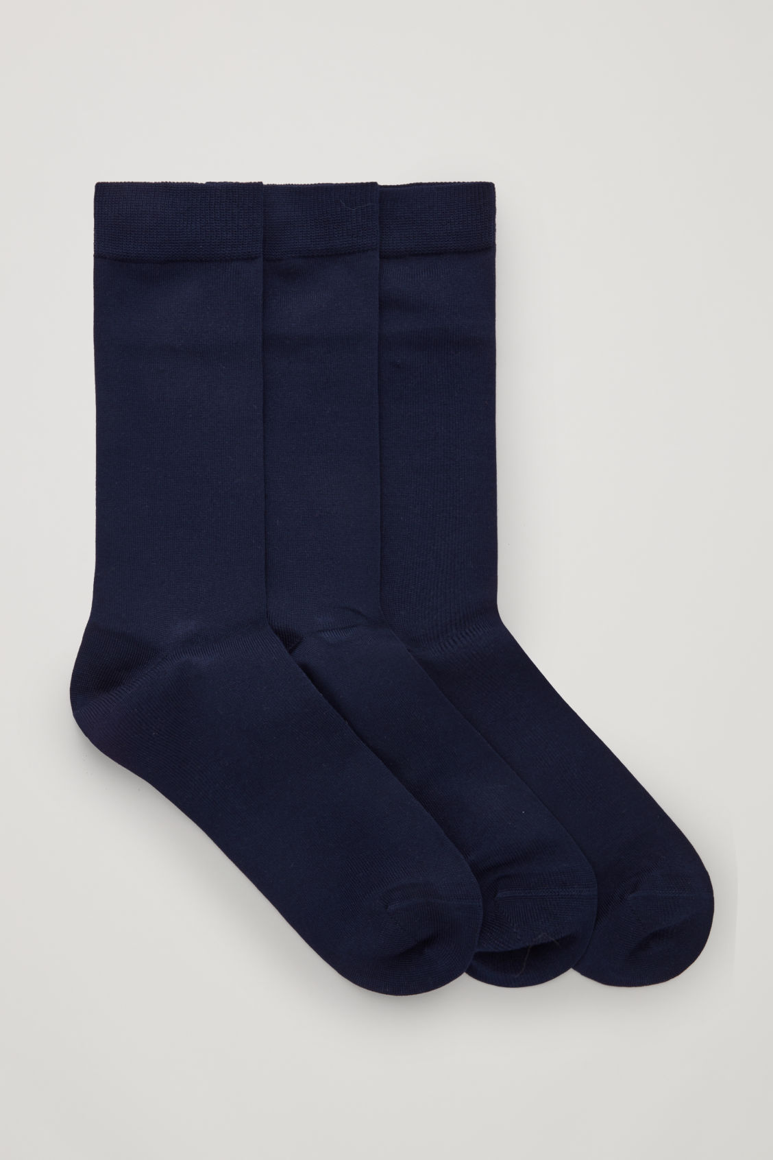 Front image of Cos three pairs of socks in blue