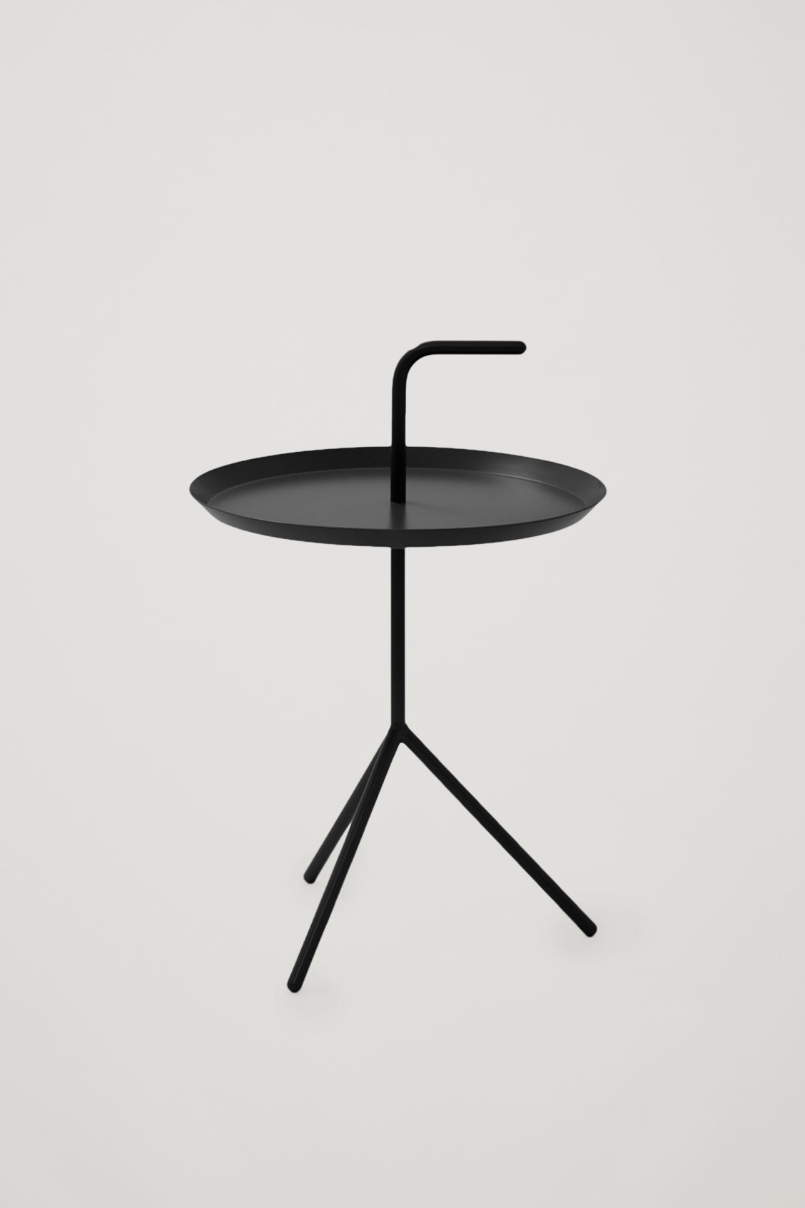 Front image of Cos hay dlm side table in black