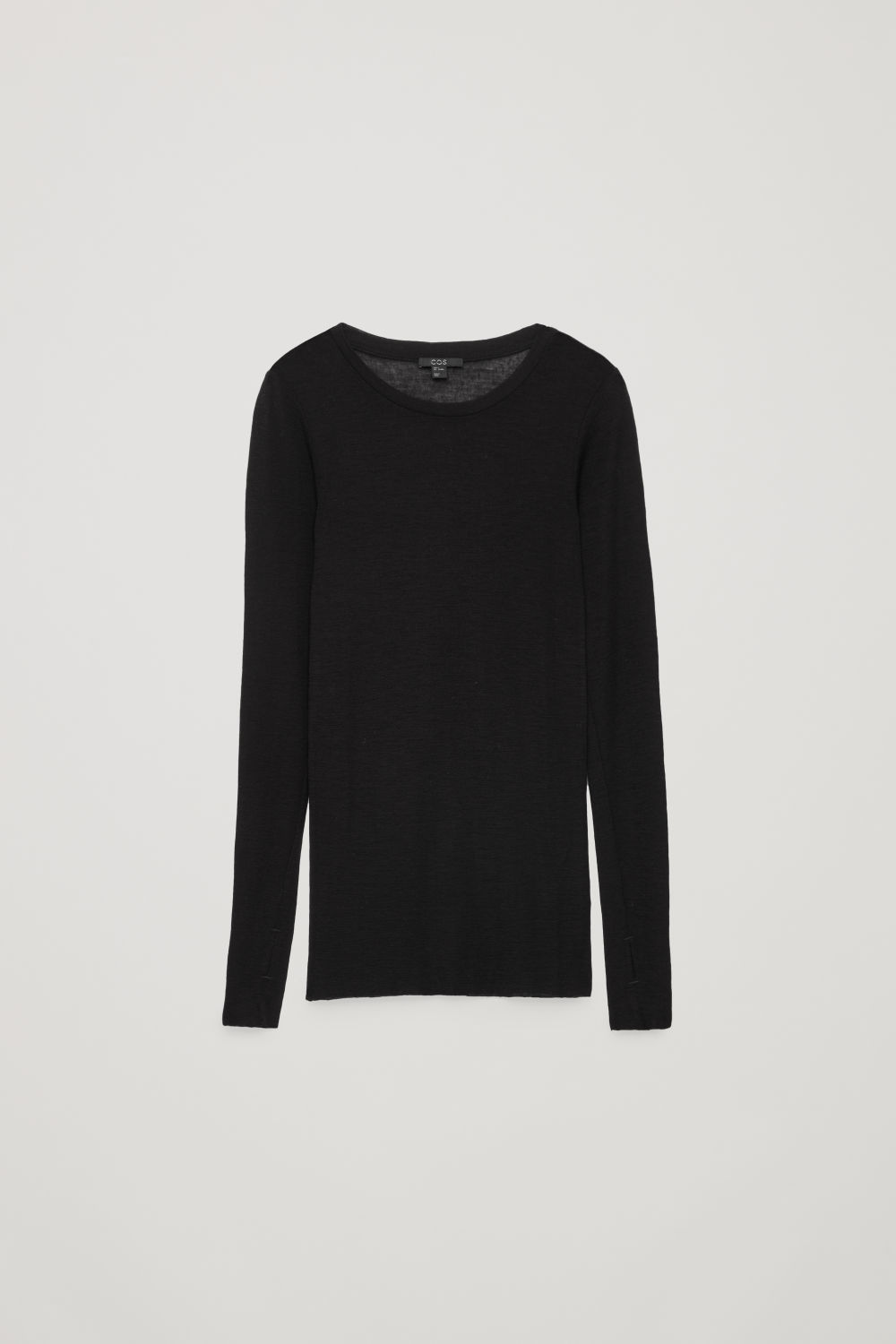 SHEER WOOL LONG-SLEEVED TOP