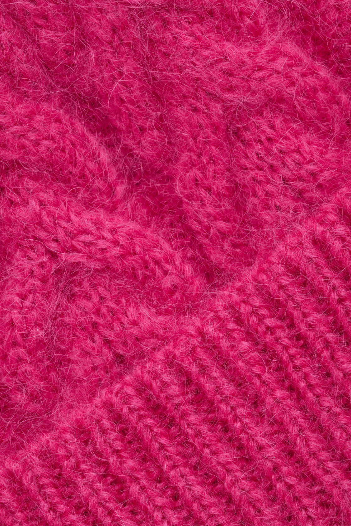 Side image of Cos cable-knit hat in pink
