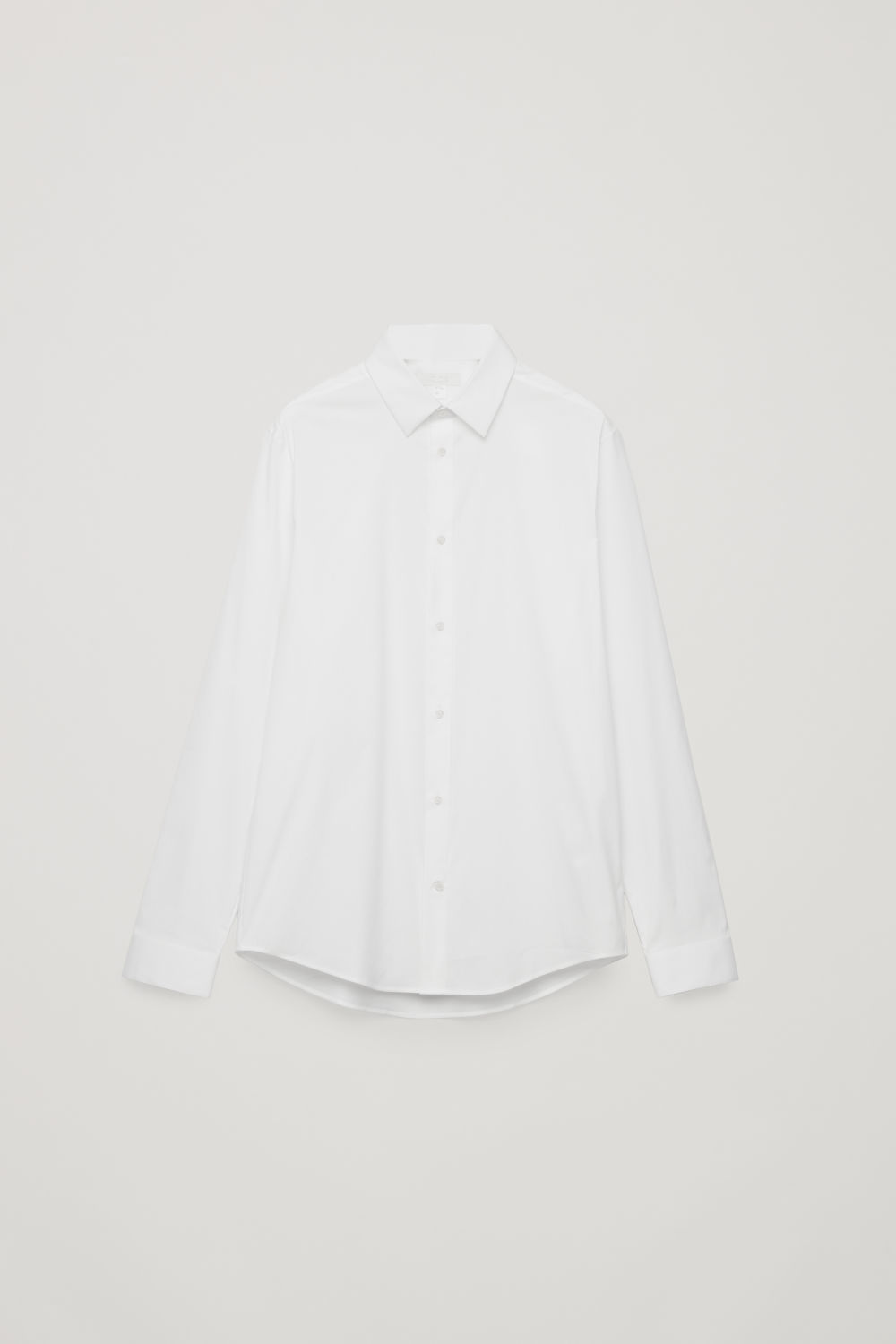 Front image of Cos slim-fit cotton shirt in white