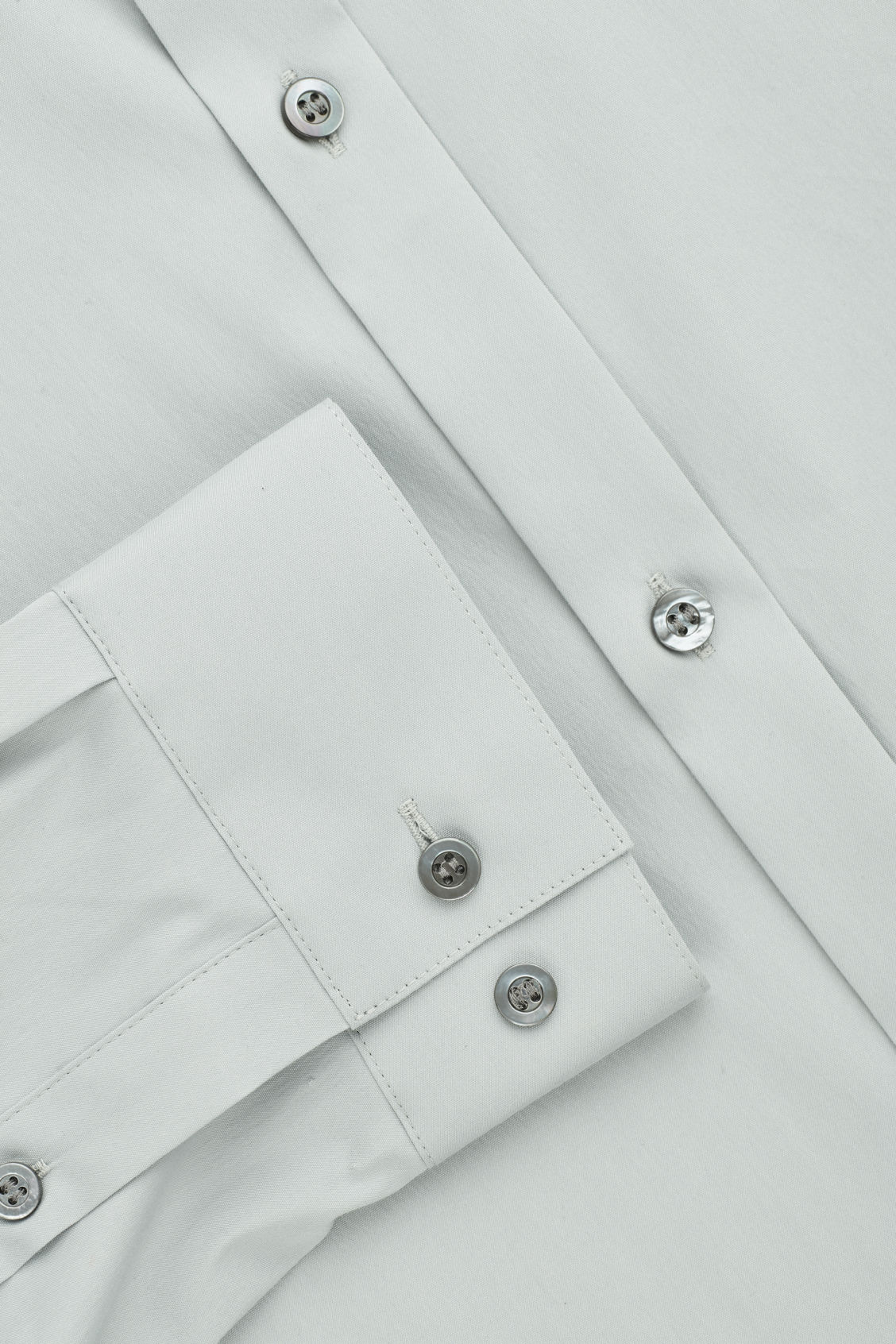 Side image of Cos slim-fit cotton shirt in grey