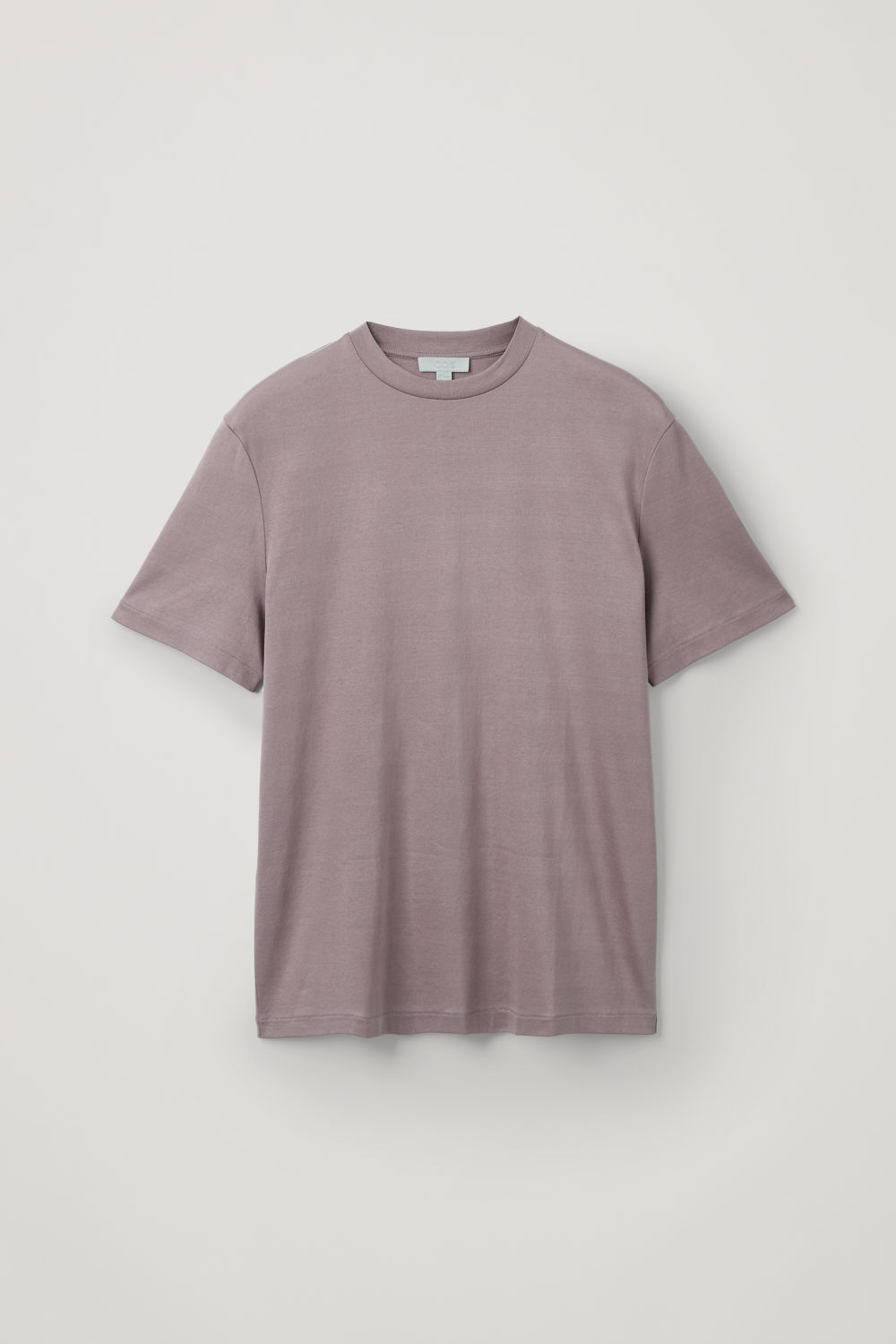 Front image of Cos t-shirt with mock neck in purple