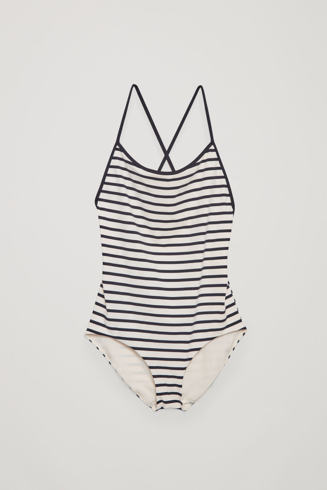 Front image of Cos crossover swimsuit in white