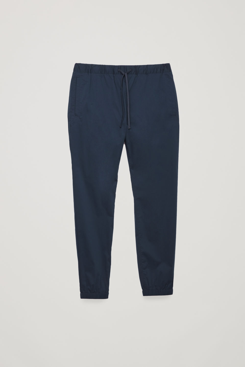 ELASTIC-WAIST COTTON TROUSERS