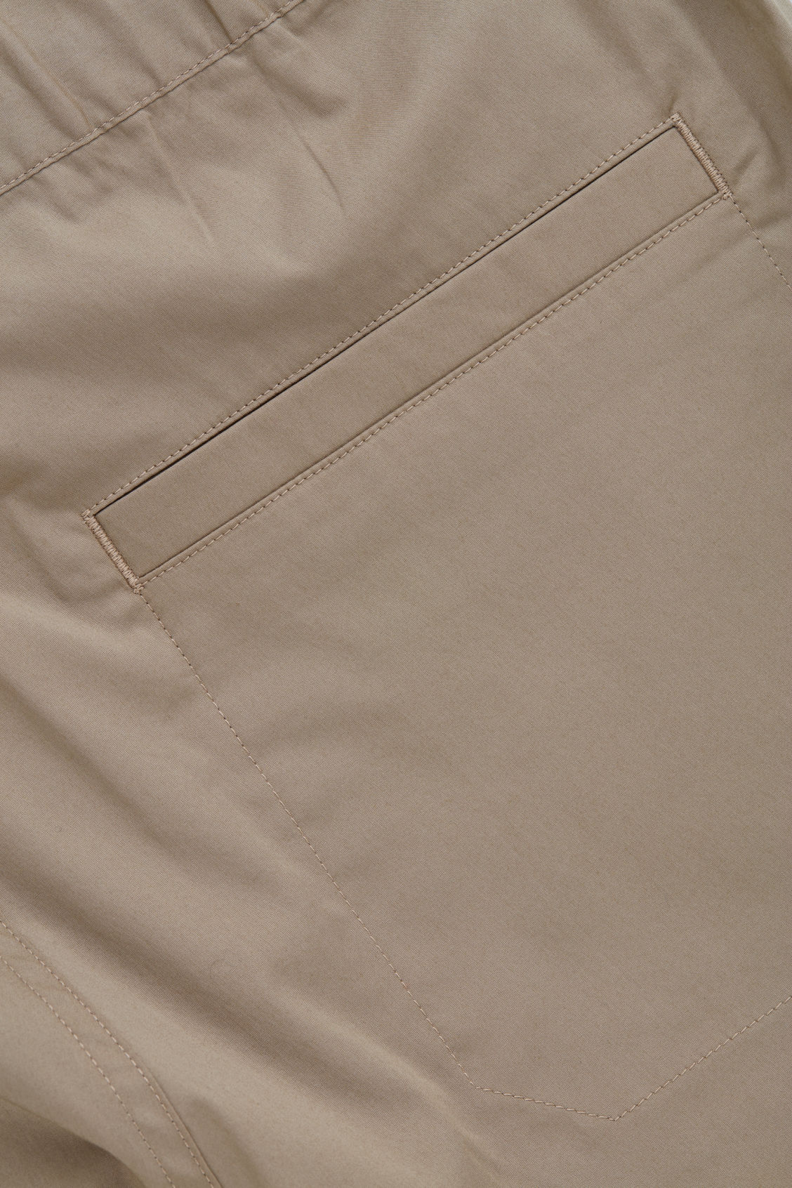 Side image of Cos elastic-waist cotton trousers in beige