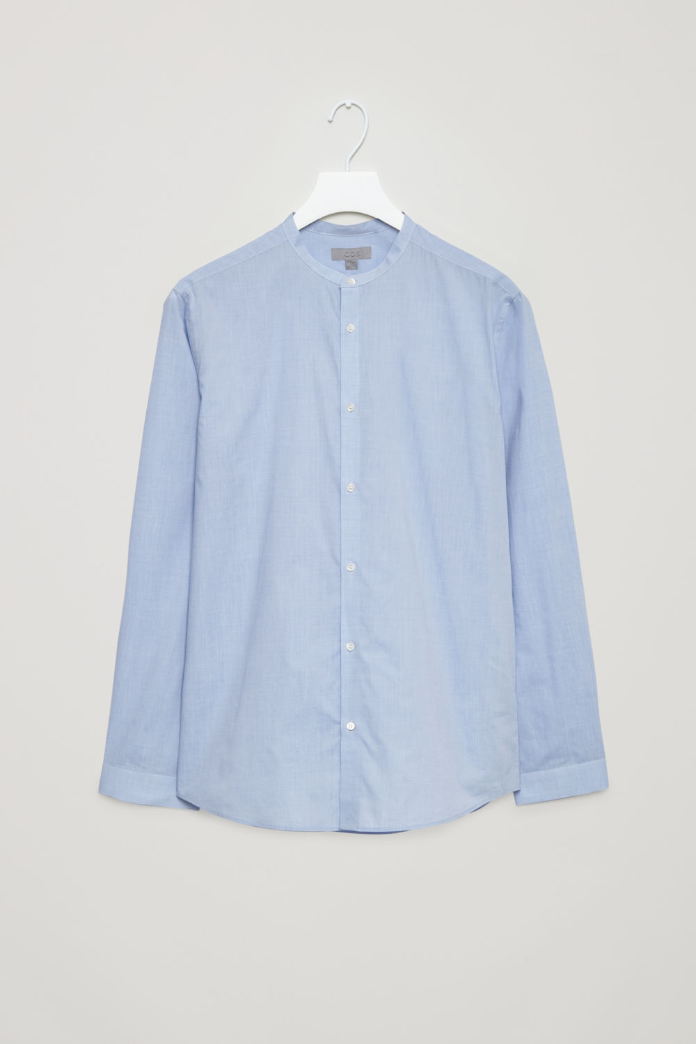 COLLARLESS COTTON SHIRT