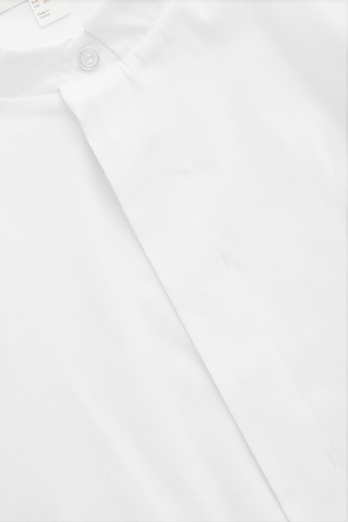 Side image of Cos 3/4-sleeved grandad shirt in white
