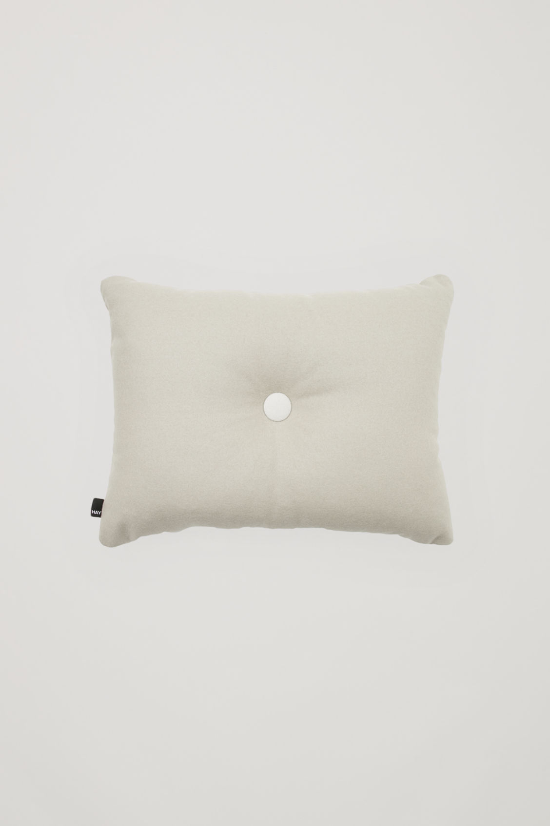 Front image of Cos hay dot cushion in beige