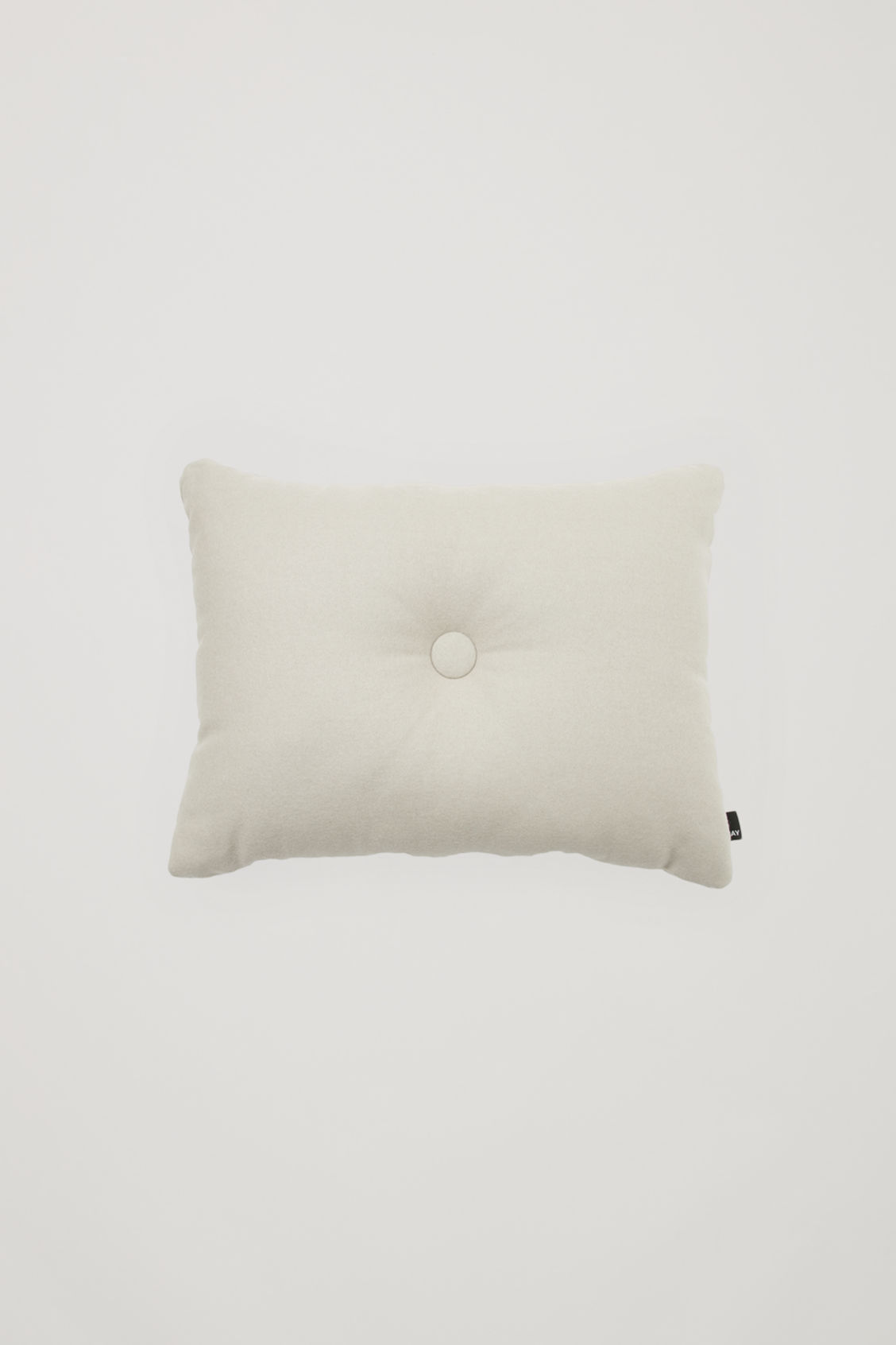 Side image of Cos hay dot cushion in beige