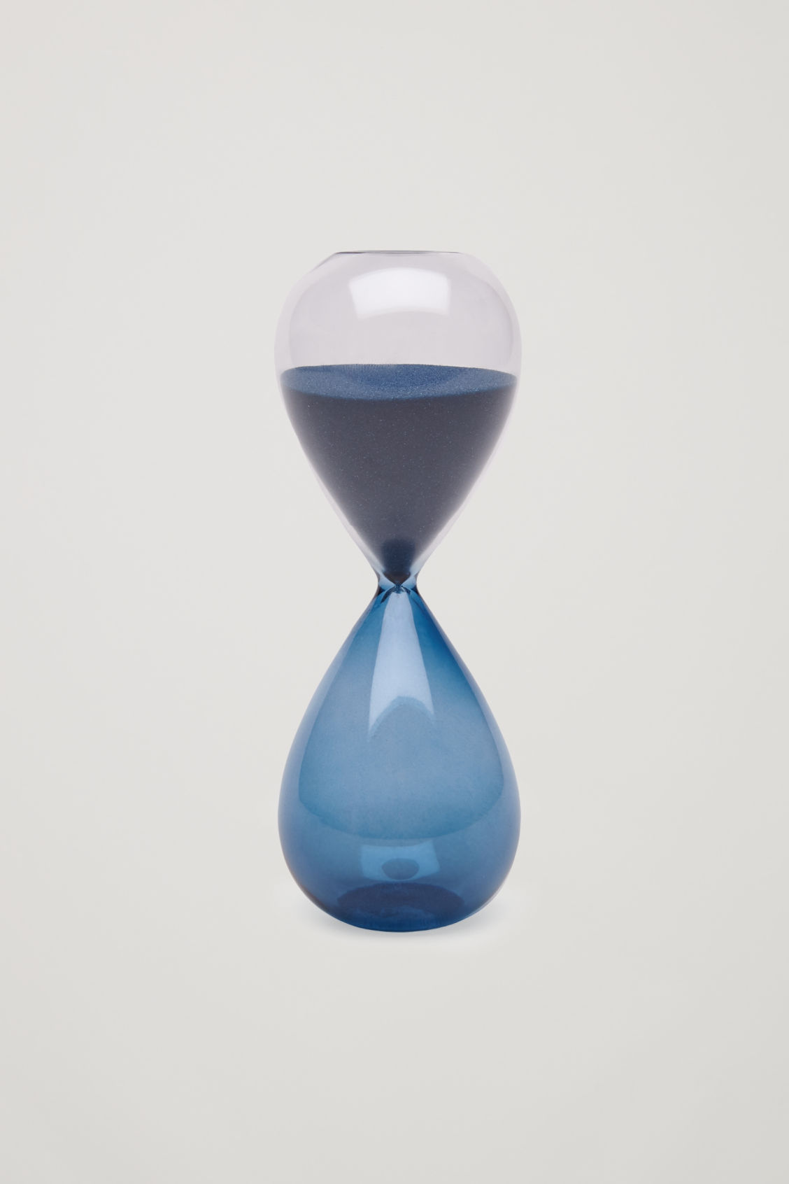 Side image of Cos hay medium time glass in turquoise
