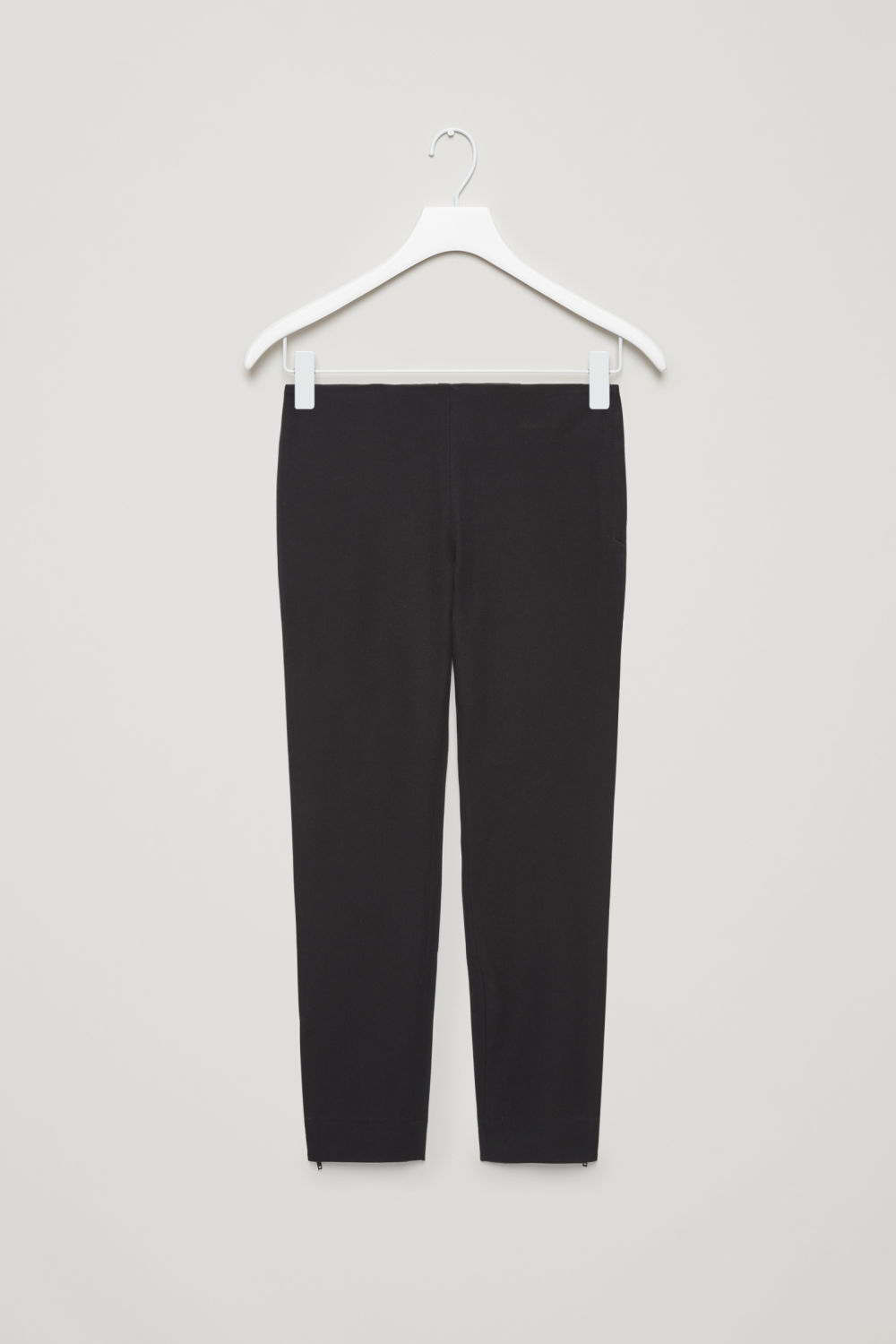 SLIM-FIT TROUSERS WITH ANKLE ZIPS