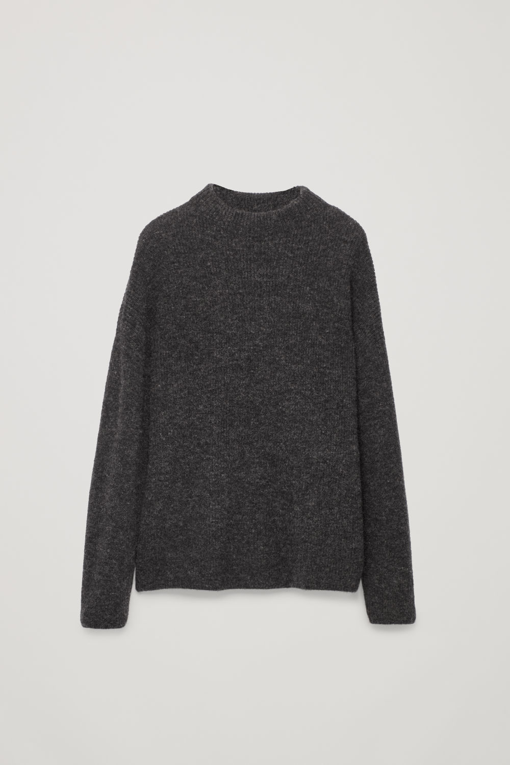 Front image of Cos oversized knit jumper in grey
